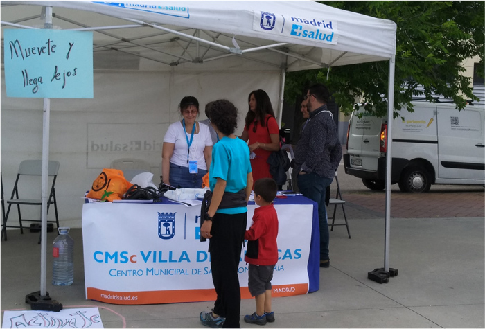 el CMSc Villa de Vallecas, en la Feria de la Salud Comunitaria