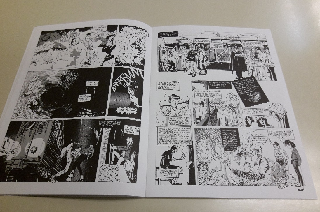 Páginas interiores del cómic con la Historia de Vallecas